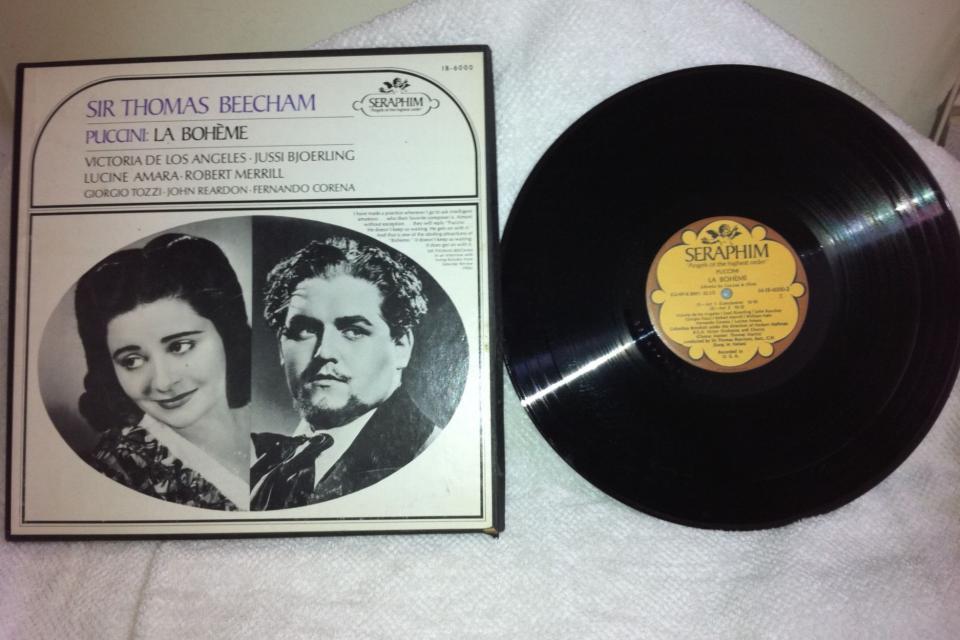 Seraphim Sir Thomas Beecham Puccini La Boheme IB -6000 LP vinyl record Large Photo