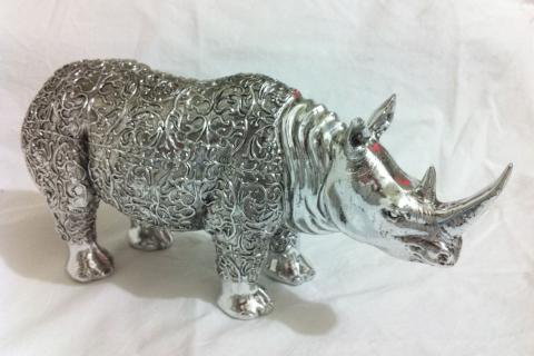 African Rhino Sculpture Statue Rhinoceros  Photo