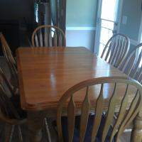 Beautiful Solid Oak Breakfast Table Photo