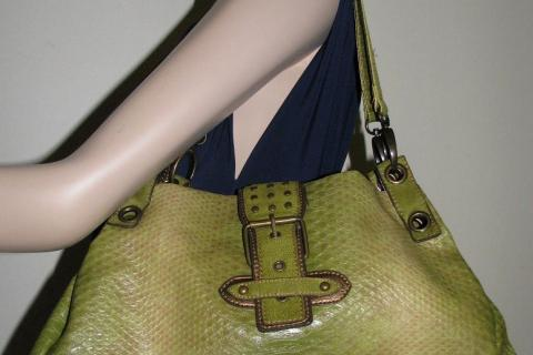 ♥♥♥SNAKE PRINT SATCHEL♥♥♥ Medium Bag, Very Trendy! Photo