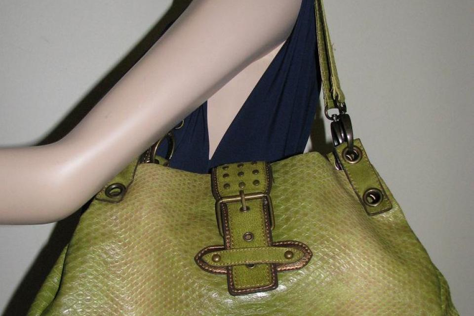 ♥♥♥SNAKE PRINT SATCHEL♥♥♥ Medium Bag, Very Trendy! Large Photo