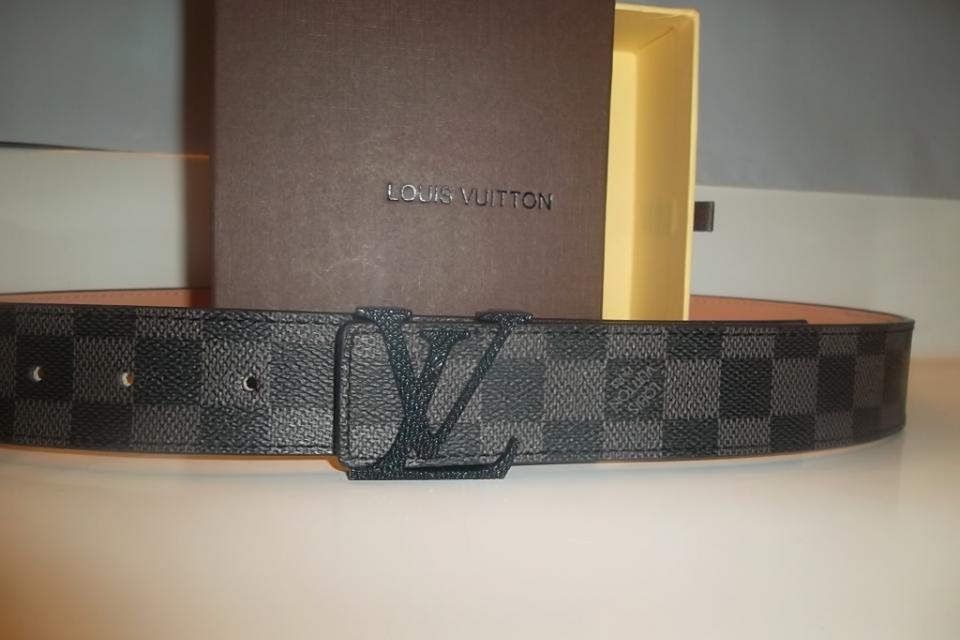 Louis Vuitton Belt Damier Graphite Size 37!! Large Photo