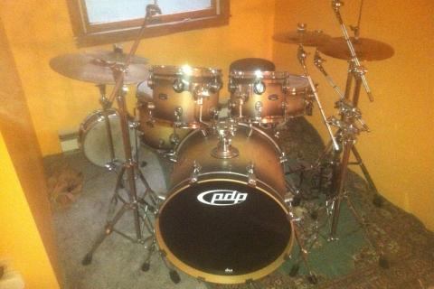 PDP FS Birch Drum Set with Cymbals and Stands Photo