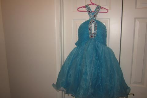 Brand New Blue Chiffon Dress Photo