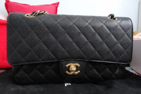 Authentic Chanel Caviar Flap...with receipt Photo