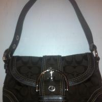 Chocolate COACH purse - small Photo