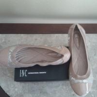 INC Sporty Silver Cap Toe Ballet Flats Photo