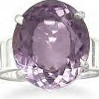 Genuine Faceted Amethyst Ring Photo