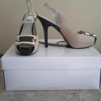 Nine West Flambeau Lt Natural/Black Heels  Photo