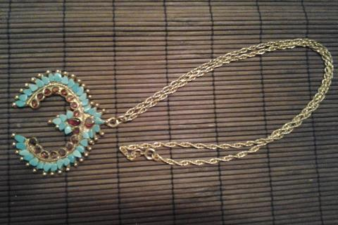 Native Design Turquoise/Amelyst Chip Necklace -No Returns Photo