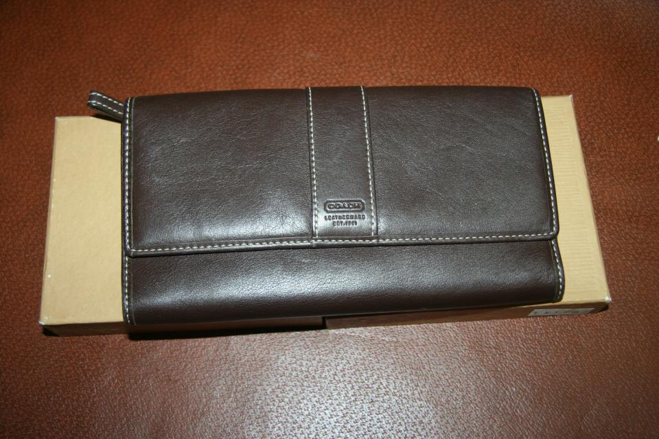 Authentic Coach Leather Wallet Large Photo