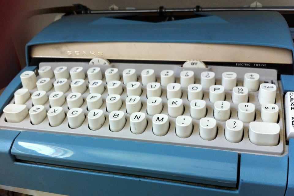 Vintage Sears Electric Typewriter Large Photo