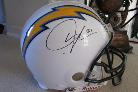 LaDainian Tomlinson Signed San Diego Chargers Riddell Full Size Pro Li Photo