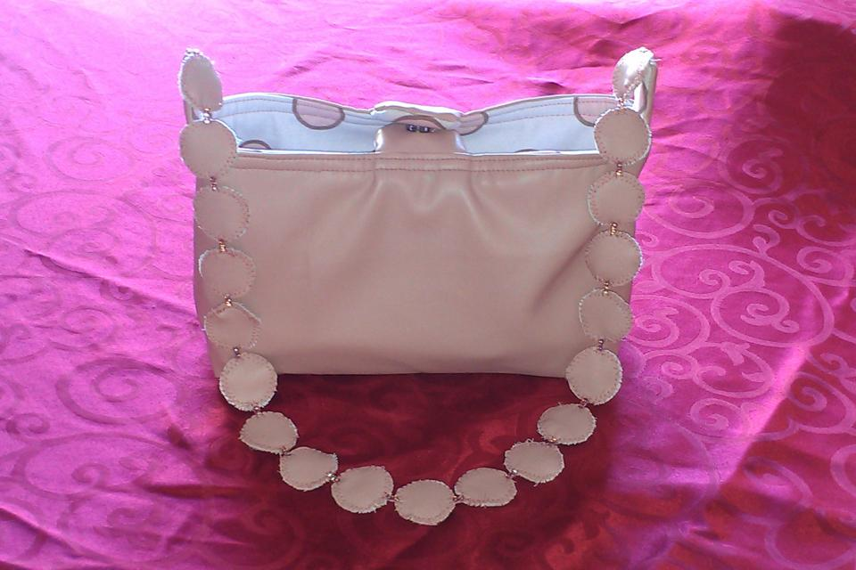 Pink Leather REVEARSABLE Purse/Tote Bag Large Photo