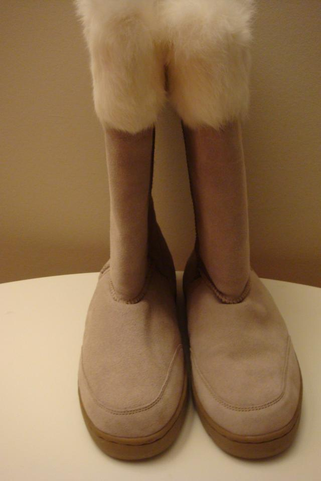 Fur lined tan suede boots by On your Feet Photo