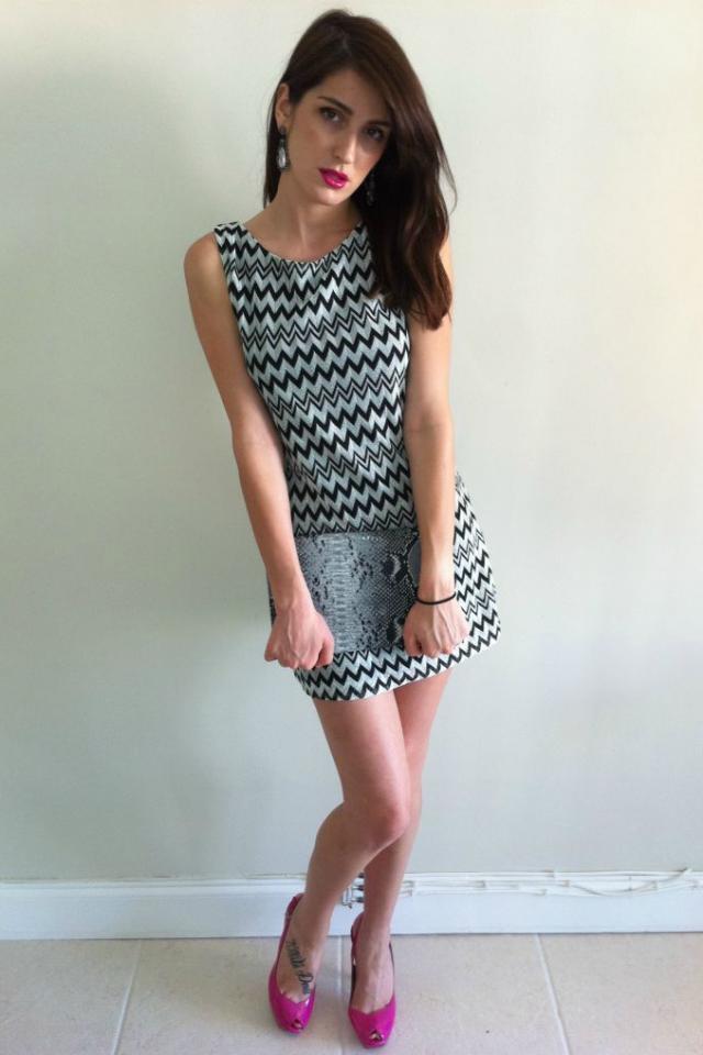 Dress, Purse and Shoes Photo