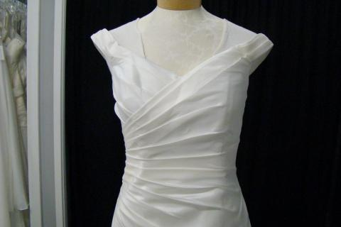 New Ivory Taffeta Lace Up Wedding Dress Sz 10 Photo
