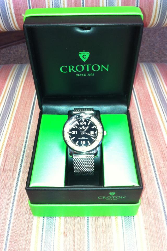 Croton Stainless Steel Wristwatch  Large Photo
