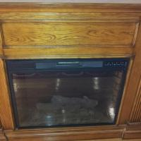 ELECTRIC FIREPLACE WITH REMOTE!- ITEM IS IN THE BRONX, N.Y. Photo