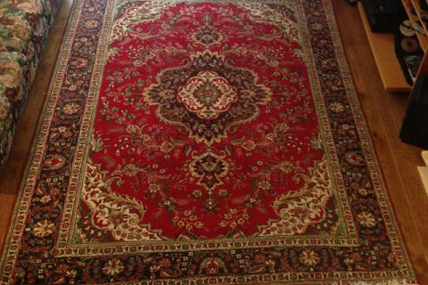 Hand Knotted Kashan Wool Carpet from Iran Photo
