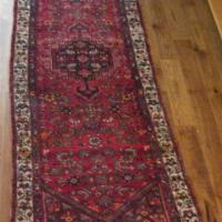 Hand Knotted Hamadan Wool Runner Carpet from Iran Photo