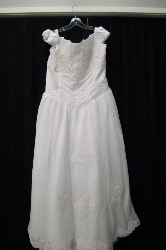 New White Satin Wedding Dress Sz 24 Photo
