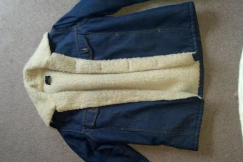 Mens Sears Jean and Fur Jacket Large Photo