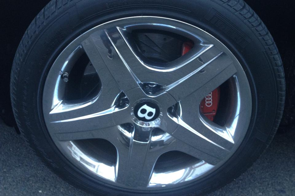 Chrome OEM Bentley Factory WHEELS & TIRES Flying Spur Continental GT La