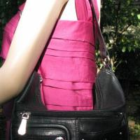 ♥♥♥STONE MOUNTAIN♥♥♥ BLACK SHOULDER BAG, VERY ELEGANT Photo