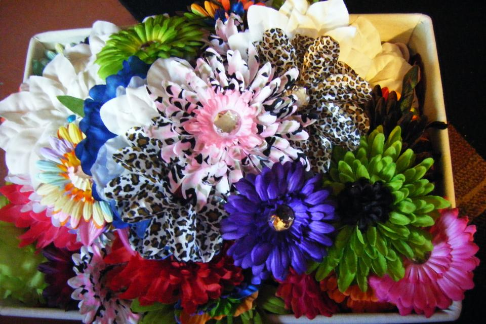 Grab bag hair flowers Large Photo