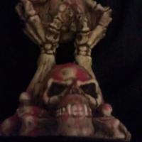 VERY RARE 100% AUTHENTIC CHINESE 'ANIMAL ONLY' BONES and SKULLS CANDLEHOLDER!! EXTREMELY COOL BONE PIECE!!! Photo