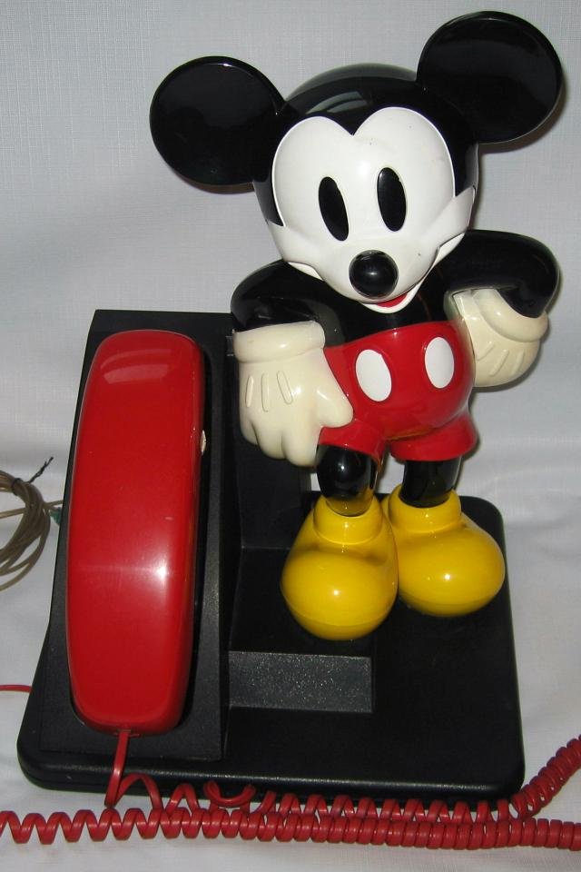 VINTAGE MICKEY MOUSE  PUSHBUTTON DESK PHONE BY DISNEY Large Photo