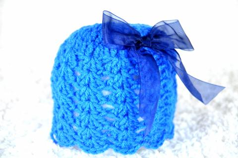 Crochet baby hat Photo