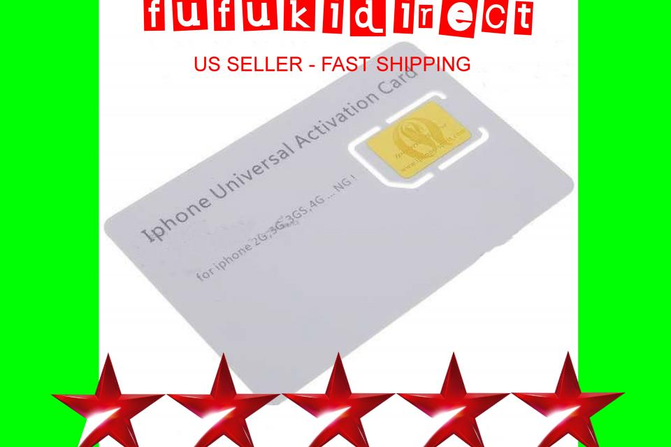 Universal Activation Sim Card for Apple iPhone 4 4G 3G 3GS 2G Large Photo