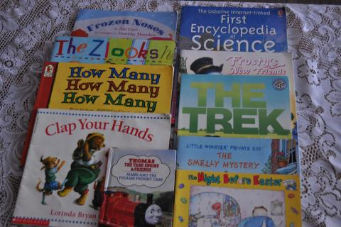 10 Assorted Childrens Reading Books Photo