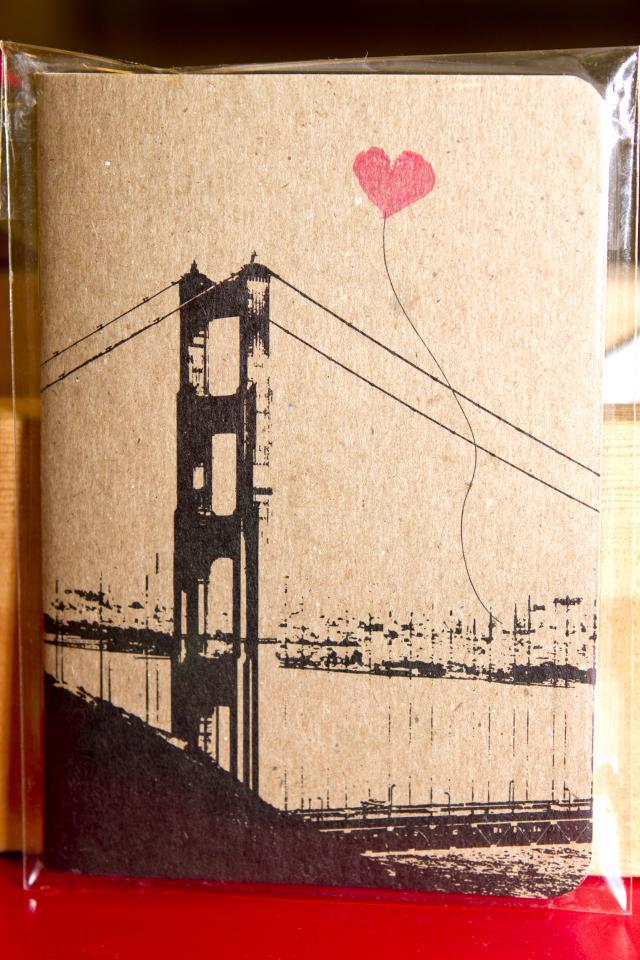 Heart in SF- pocket notebook - Noteify Photo