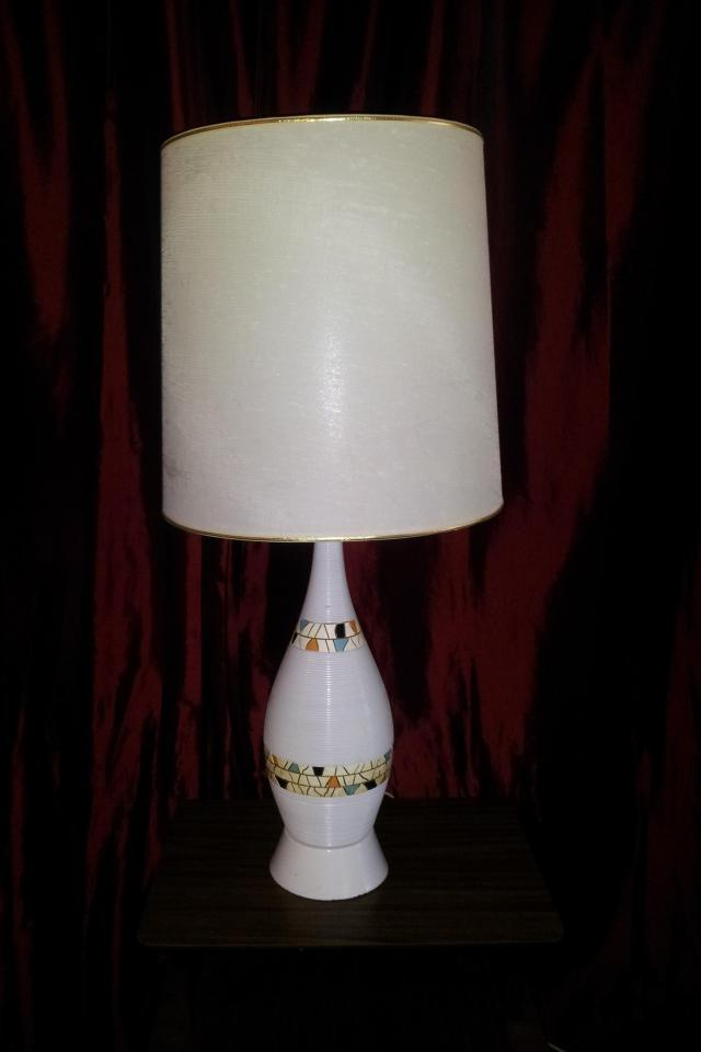 mid century mosaic lamp Photo