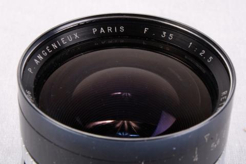Angenieux f. Exakta 1:2 5/35mm Type R1 Retrofocus Lens In Box Photo