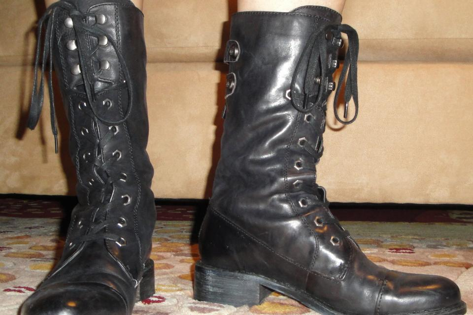 Sam Edelman Darwin Boots Black sz7.5 Large Photo