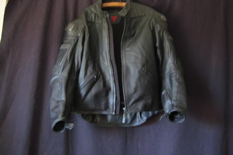 Dainese black leather motorcycle jacket Photo