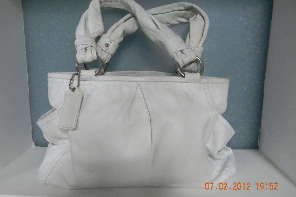 COACH TOTE PURSE WHITE Large Photo