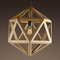 Wood Polyhedron Pendant Small Photo