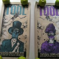 Pair of limited edition Tool Red Rocks posters Photo