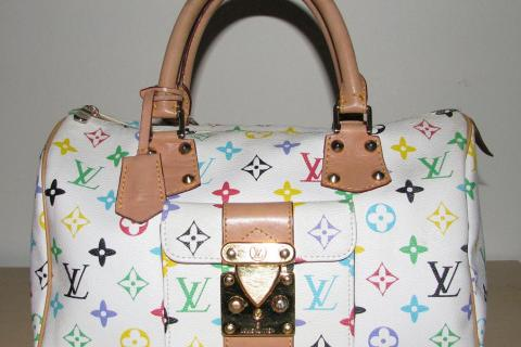 ♥♥♥Louis Vuitton♥♥♥ White Multicolore Satchel Bag, Very Stylish! Photo