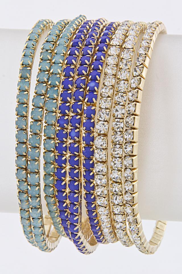 Arcyclic jewel Crystal Bracelet set Photo