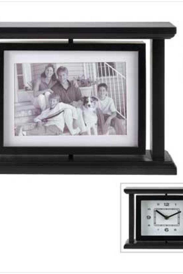 #12499 Revolving Photo Clock Large Photo