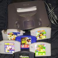 nintendo 64, 6games, 1controller Photo
