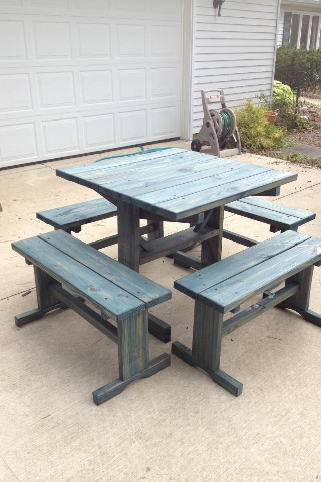 3'x 3' picnic table phone# 440-864-3883. Photo