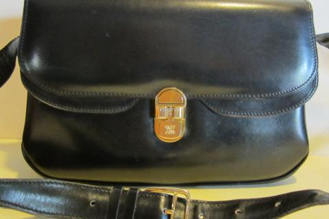 Gorgeous vintage CELINE, black leather bag PARIS Photo