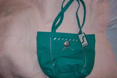 buy 1, get 1 free; SARNE  brand new handbag, large, turquoise/aqua color, tag attached, MAKE OFFER Photo